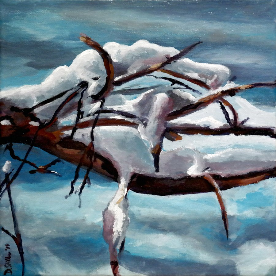 """0895 Snowdrift"" original fine art by Dietmar Stiller"