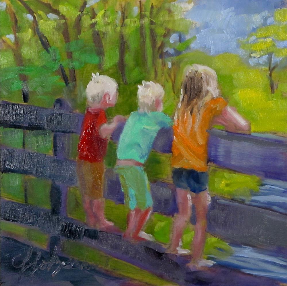 """""""View From the Bridge"""" original fine art by Christine Holzschuh"""