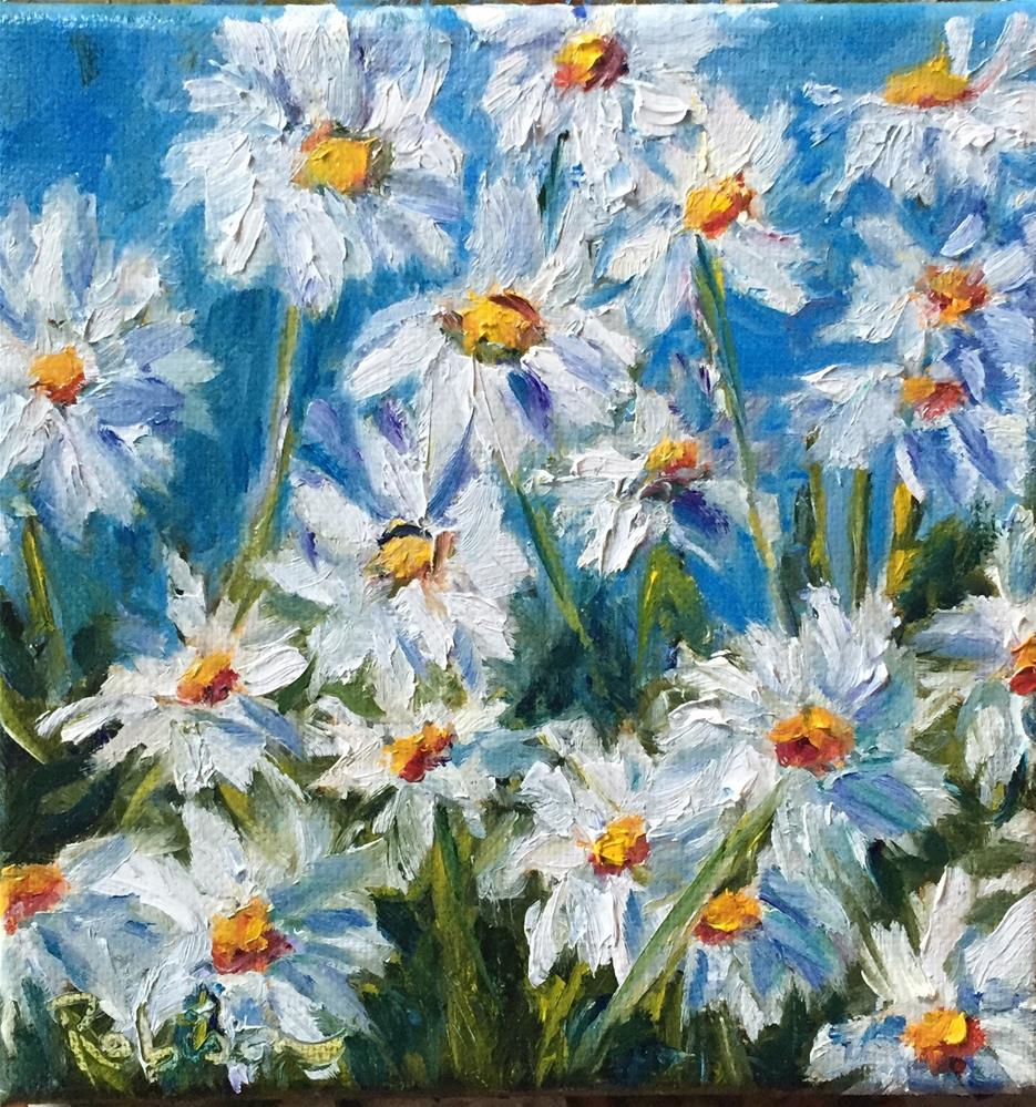 """""""Patch of Daisies"""" original fine art by Renee Robison"""