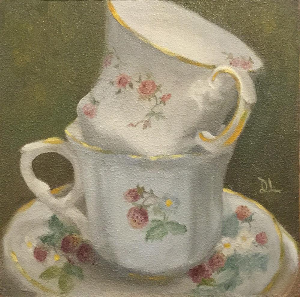 """Tea anyone? #1604"" original fine art by Dee Lessard"