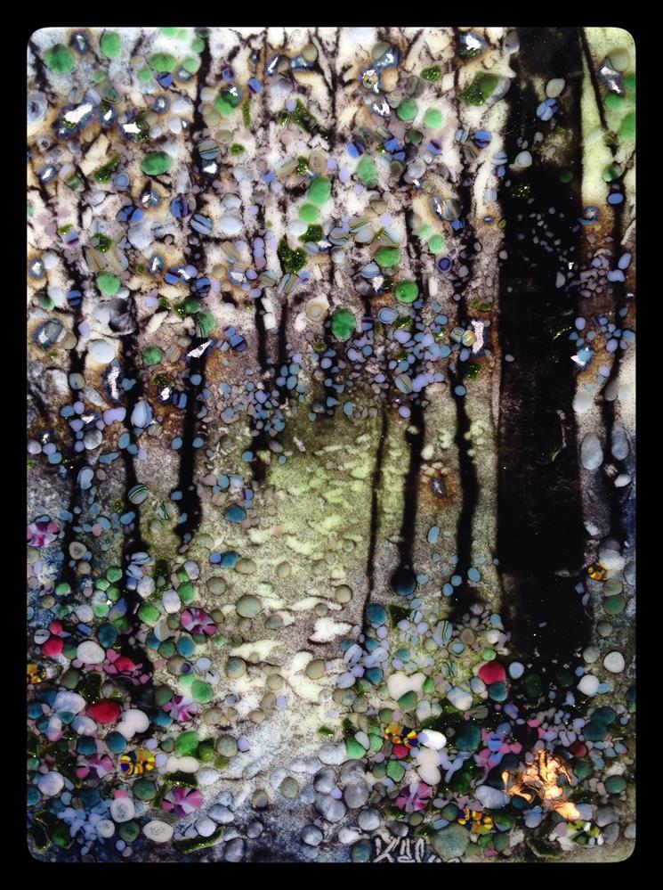 """""""Into the Forest"""" original fine art by Kelly Alge"""