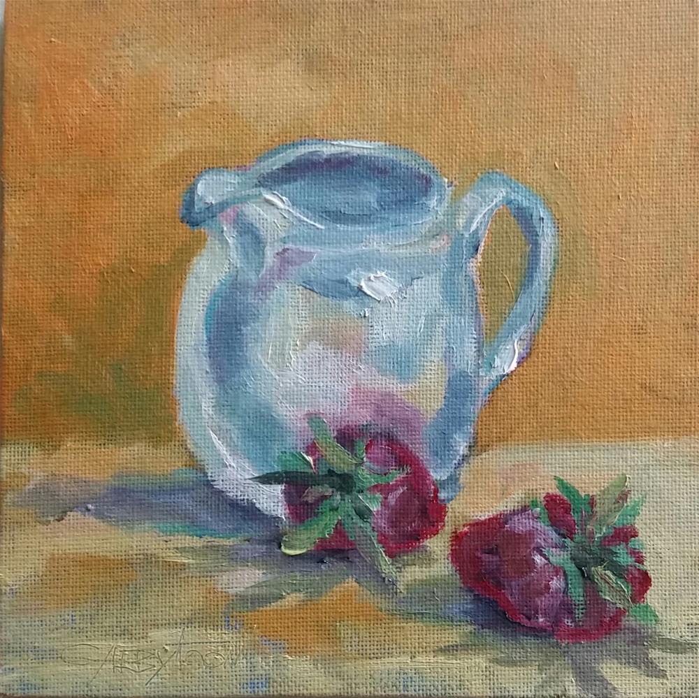 """Strawberry"" original fine art by Gabriella DeLamater"