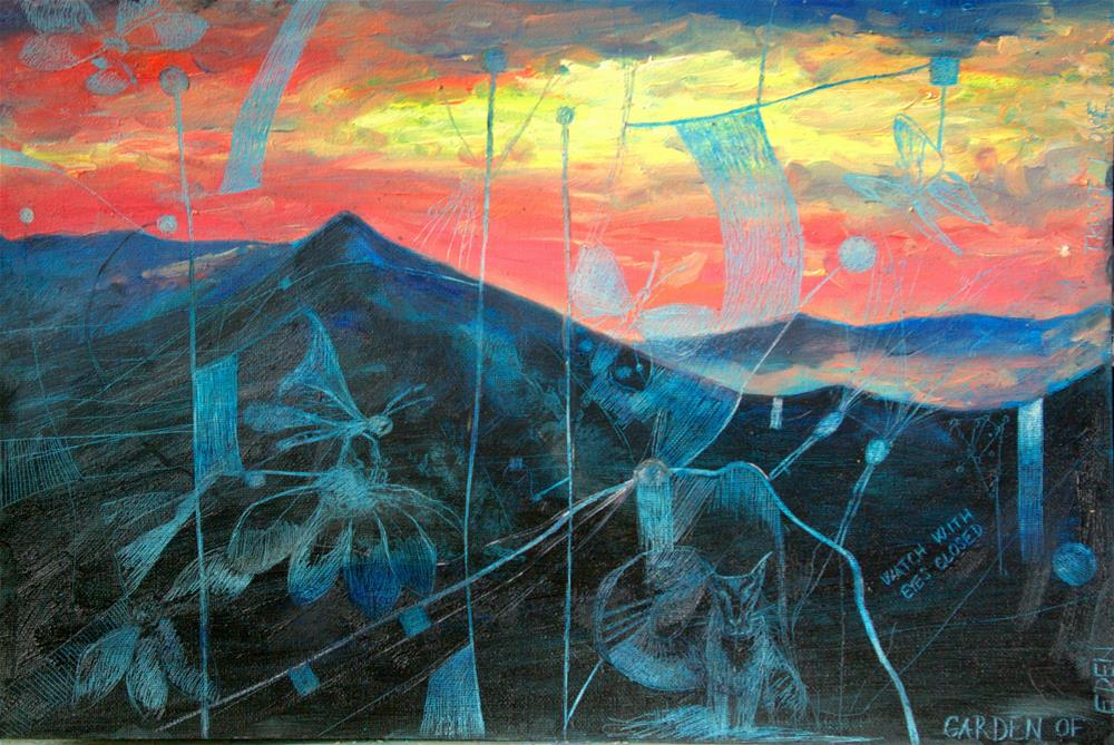 """Garden of Eden"" original fine art by Zuzana Petrakova"