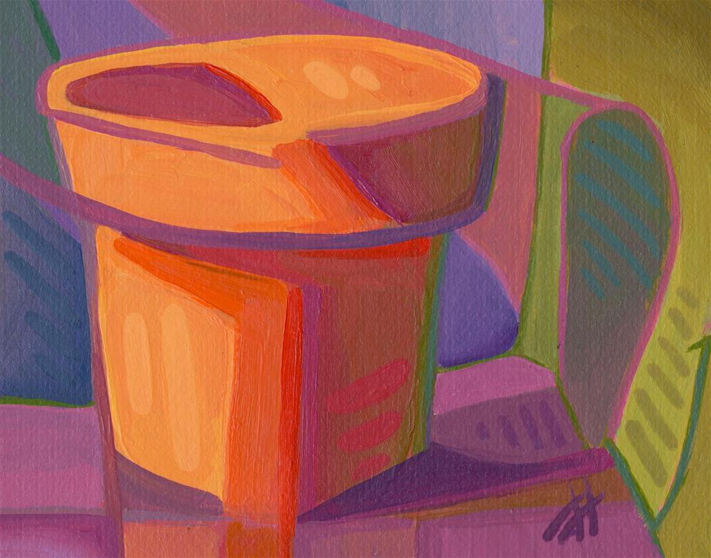 """Flower Pot"" original fine art by Mark Allison"