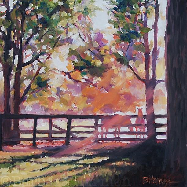 """Sunlit Siesta"" original fine art by Barbara Harmon"