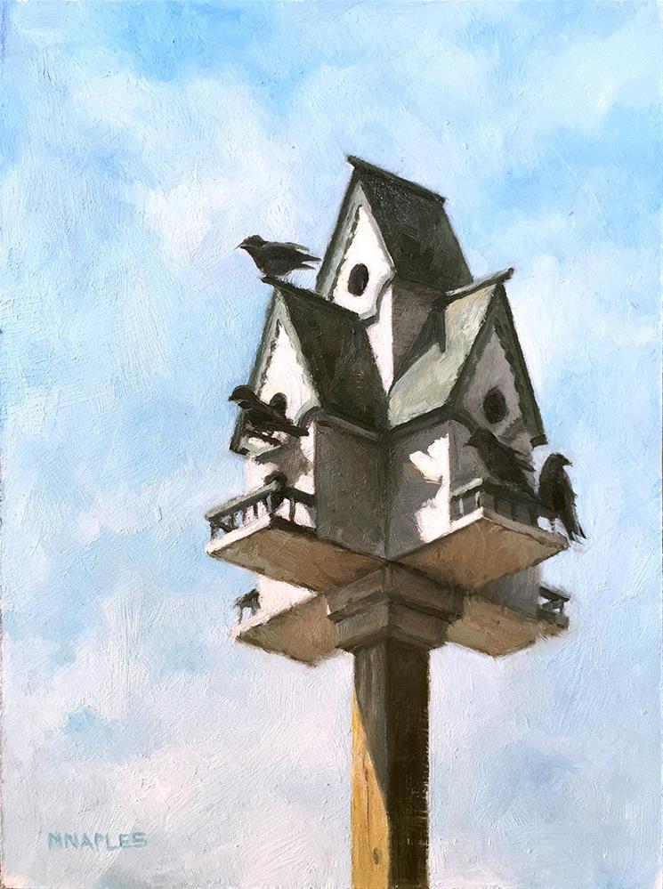 """Bird Manor"" original fine art by Michael Naples"
