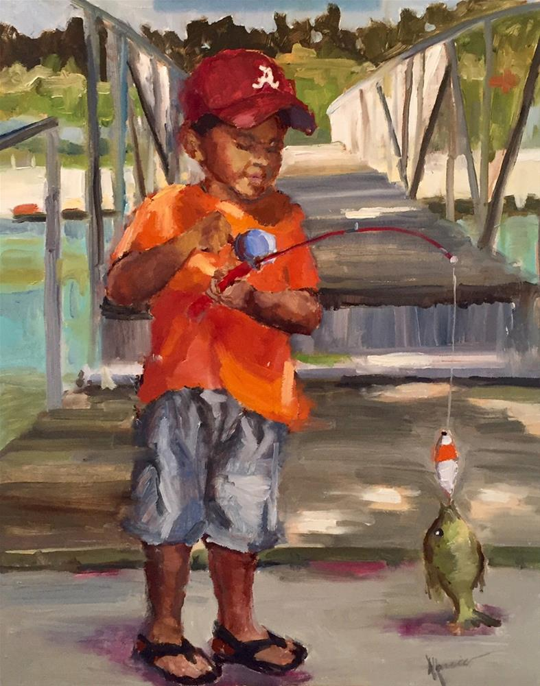 """""""Catch of the Day"""" original fine art by Marcia Hodges"""