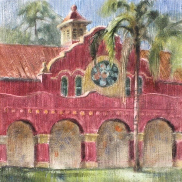 """""""Library Arches"""" original fine art by Ginger Pena"""