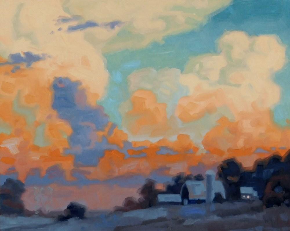 """Blazing Clouds after Storm."" original fine art by Les Dorscheid"