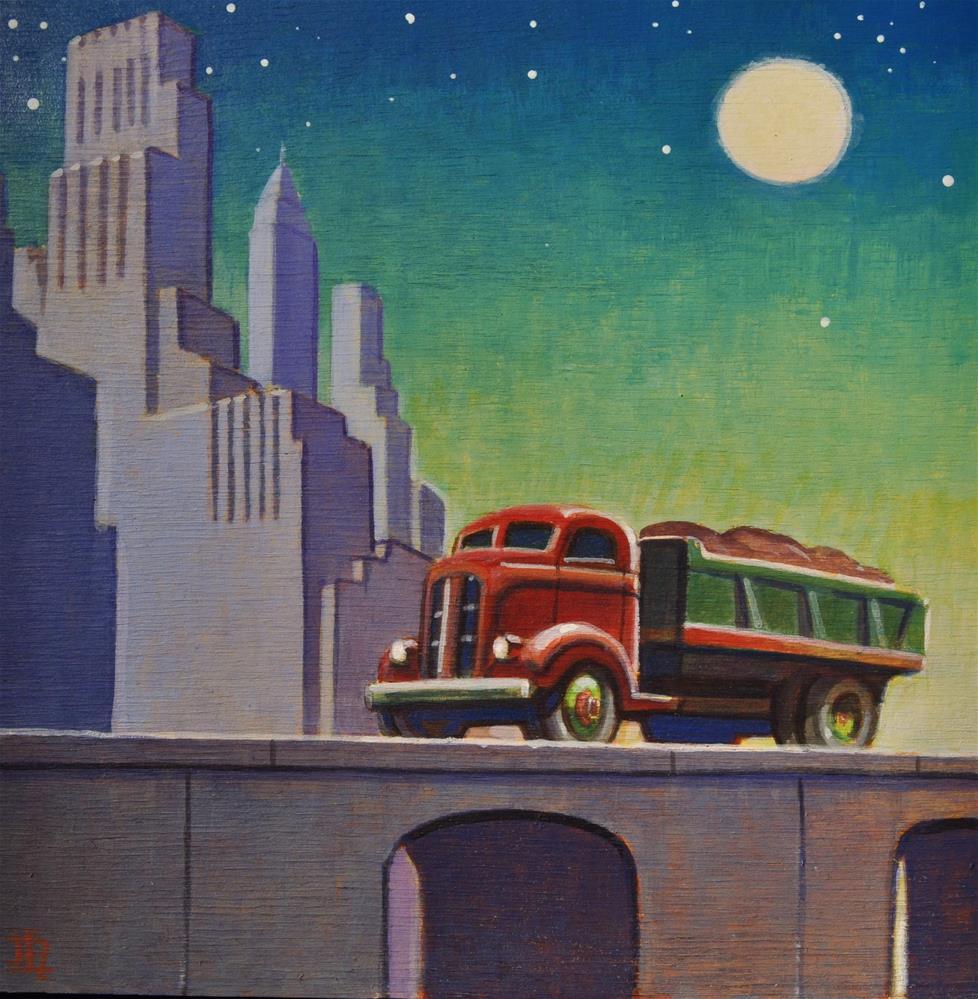 """Empire Builder"" original fine art by Robert LaDuke"