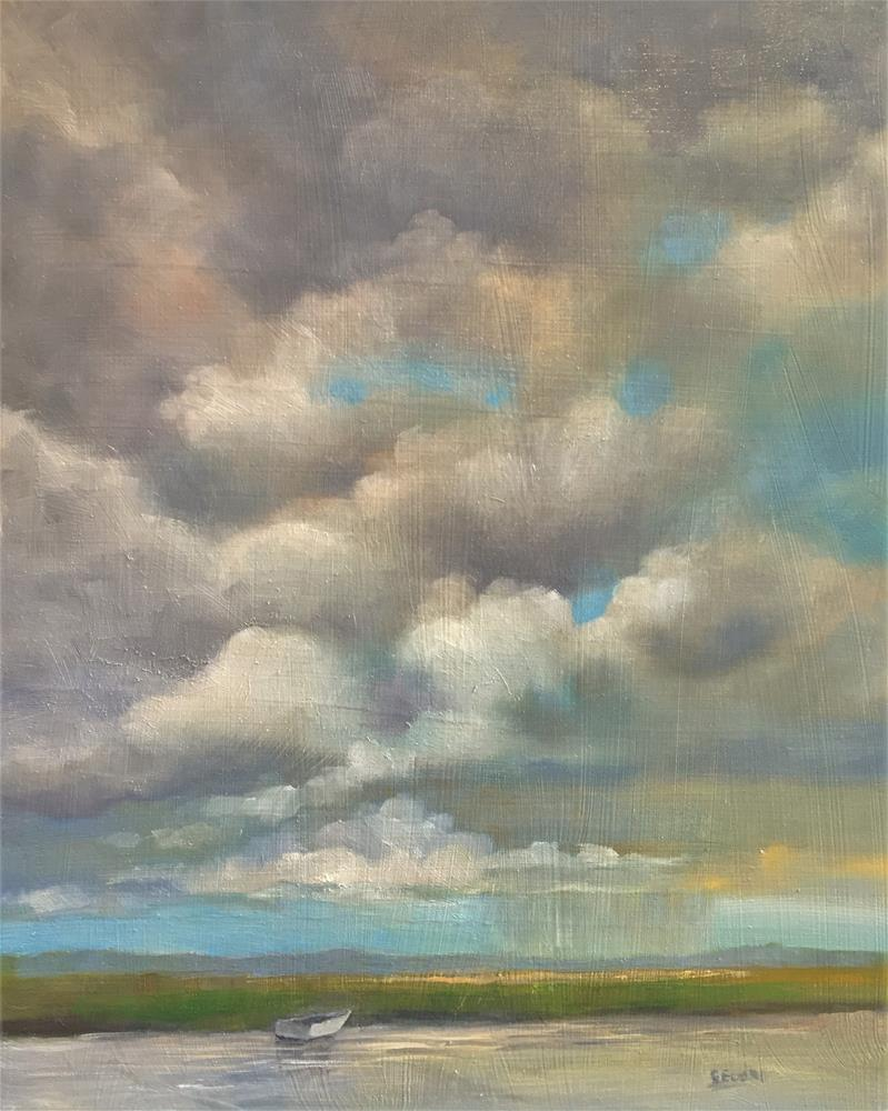 """Oyster Creek"" original fine art by Sharon Egan"