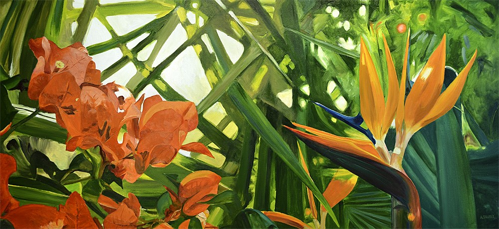 """""""Jungle Color"""" original fine art by Andy Sewell"""