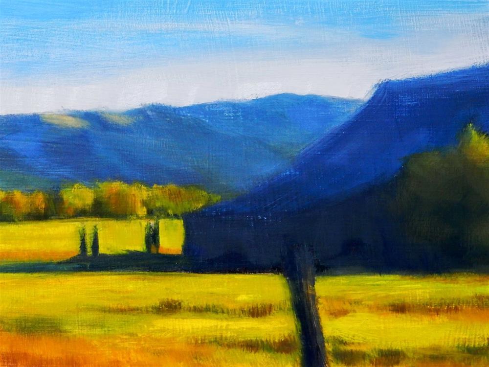 """""""Barn Shadows"""" original fine art by Carolyn Caldwell"""