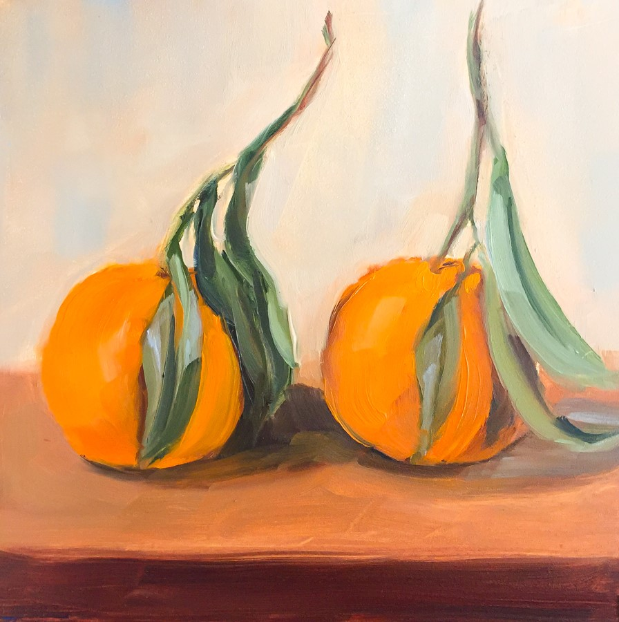 """#99 - Two Mandarins"" original fine art by Sara Gray"