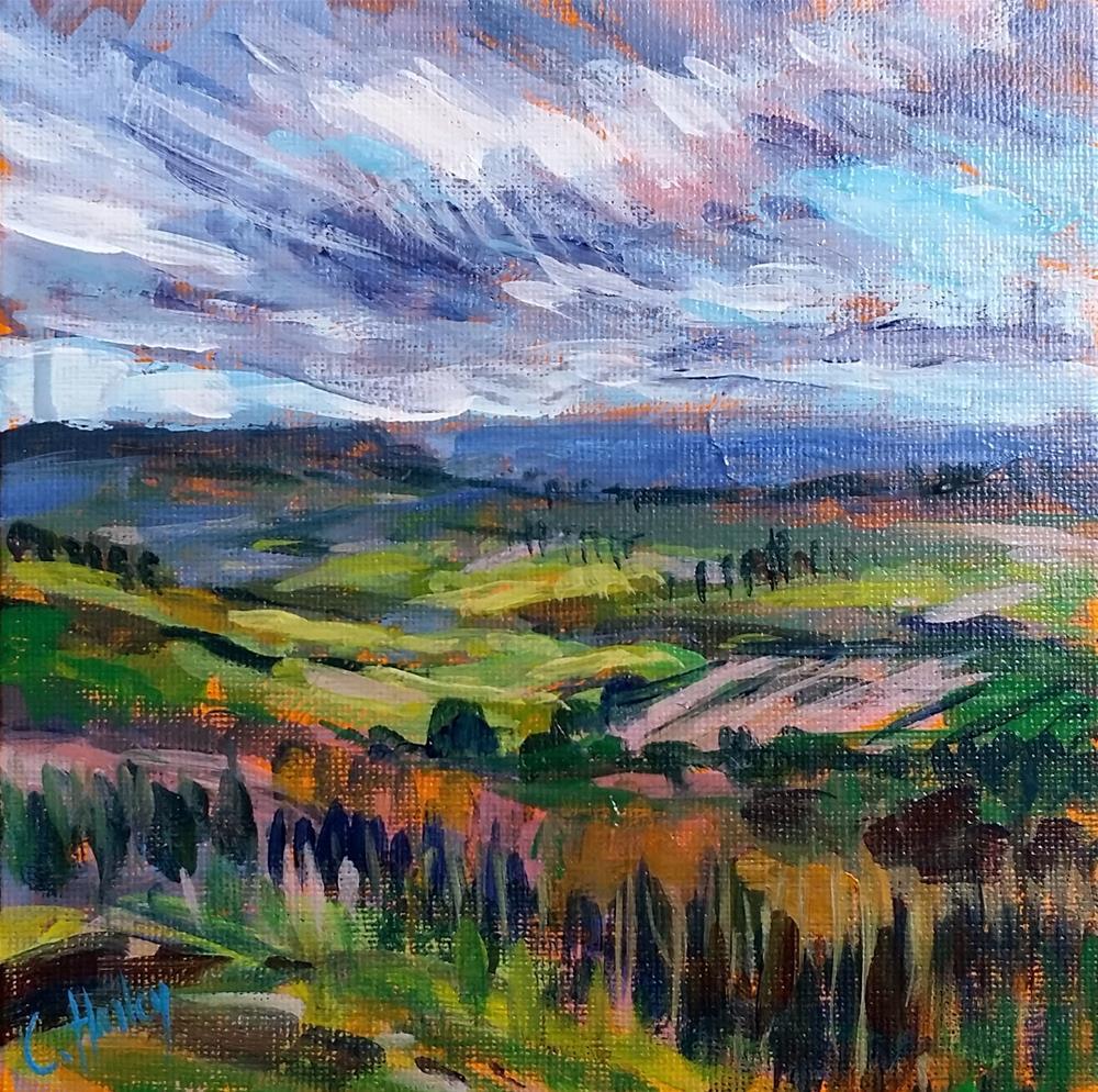 """landscape n°1"" original fine art by Catherine Harley"