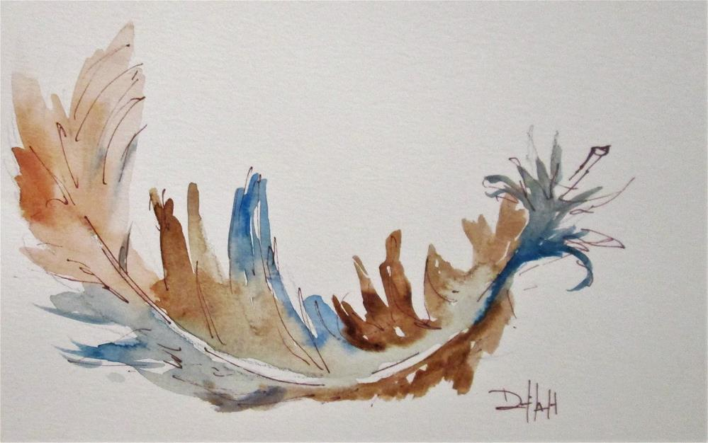 """""""Feather No 3"""" original fine art by Delilah Smith"""