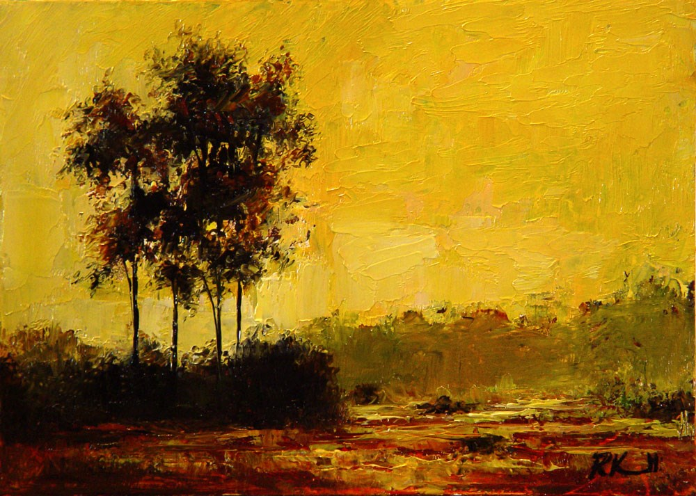 """Fall Begins"" original fine art by Bob Kimball"