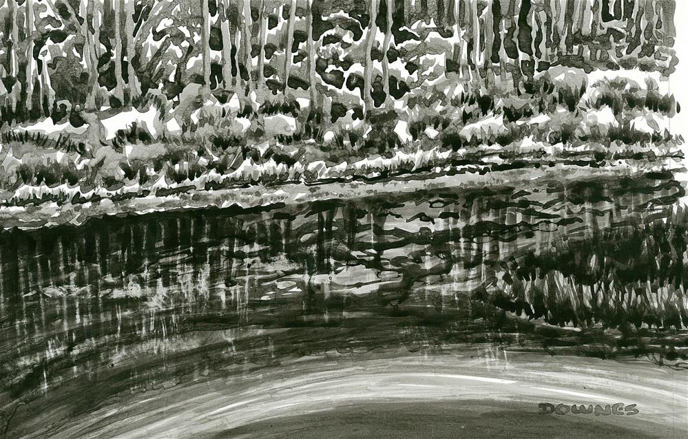 """251 EN PLEIN AIR SKETCH 10"" original fine art by Trevor Downes"