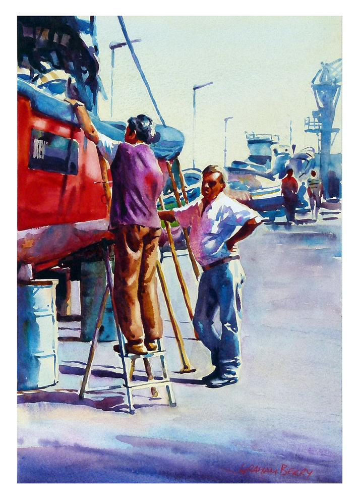 """'Nuevo San Ramon'."" original fine art by Graham Berry"