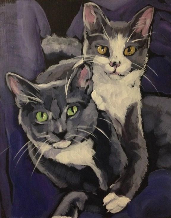 """Cleo and Maverick"" original fine art by Kat Corrigan"