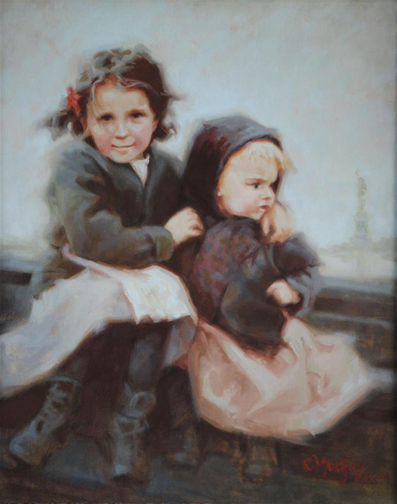 """American Dream Memories"" original fine art by Cecile W. Morgan"