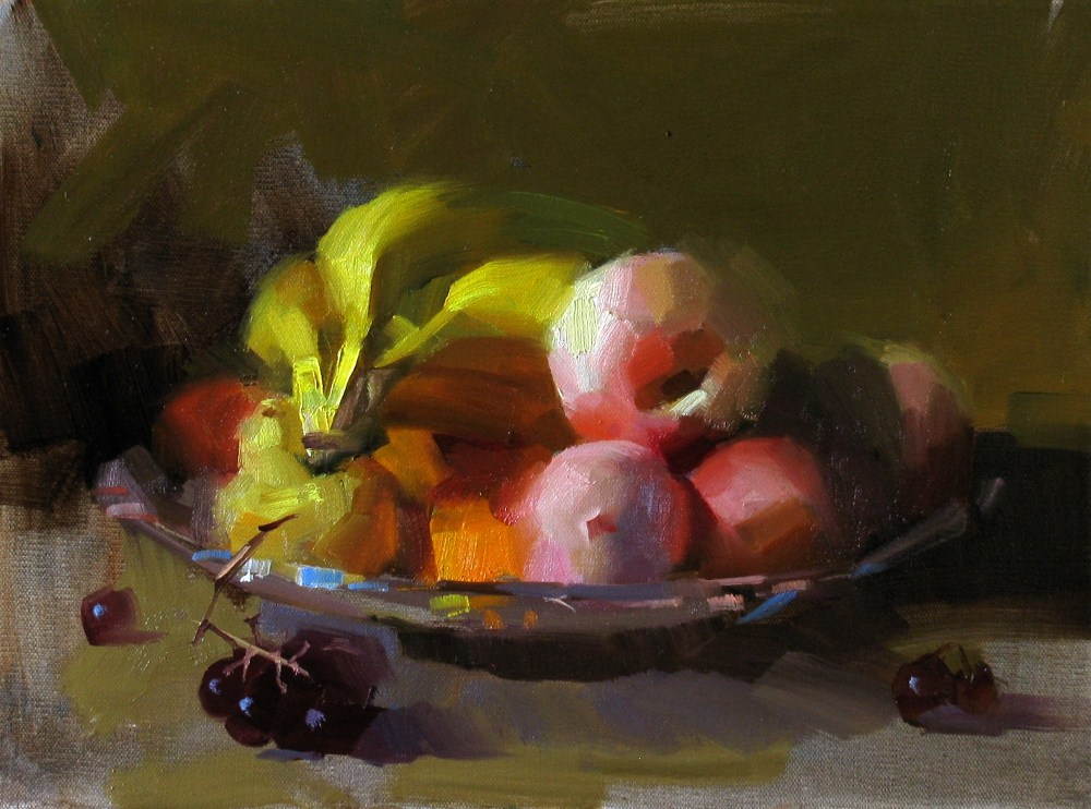 """""""On My Kitchen Counter"""" original fine art by Qiang Huang"""