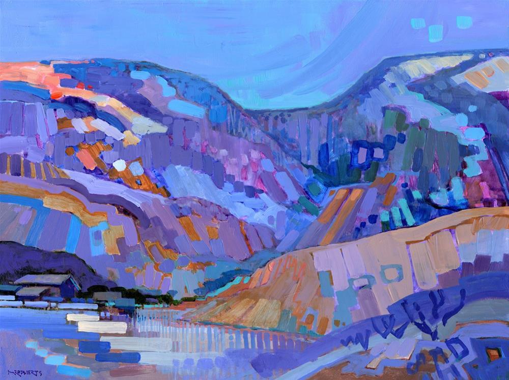 """Diablo Foothills November"" original fine art by Nancy Roberts"