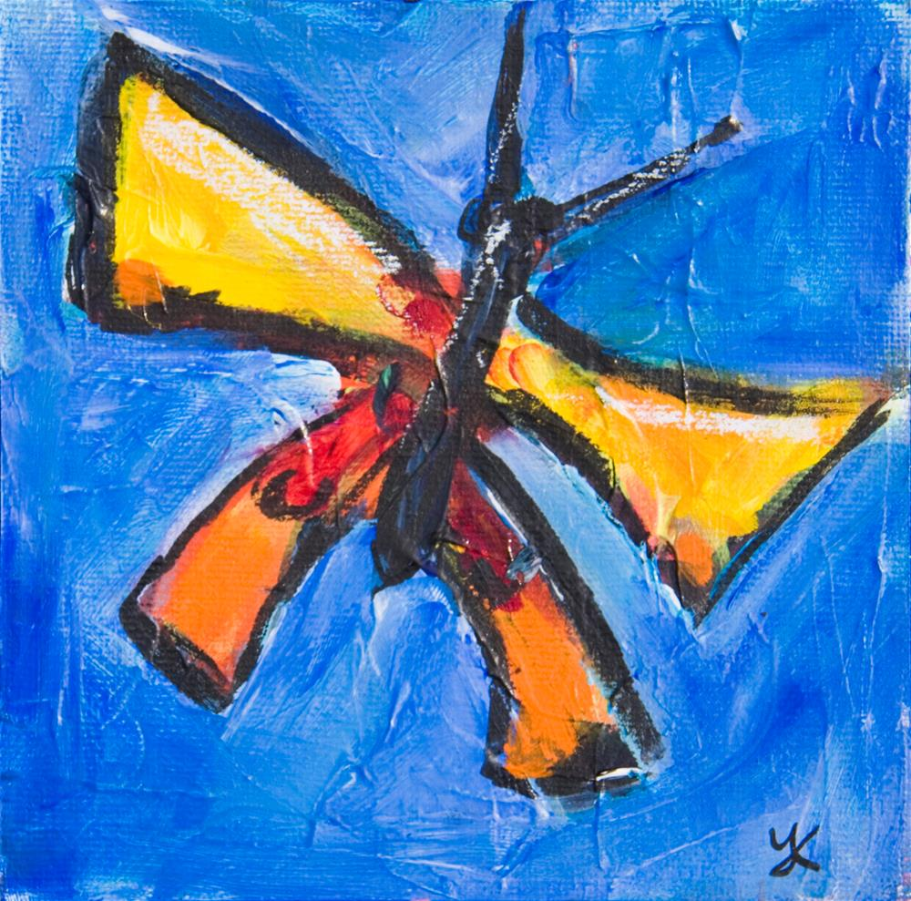 """""""Butter Sky-Diving"""" original fine art by Yulia Kazansky"""
