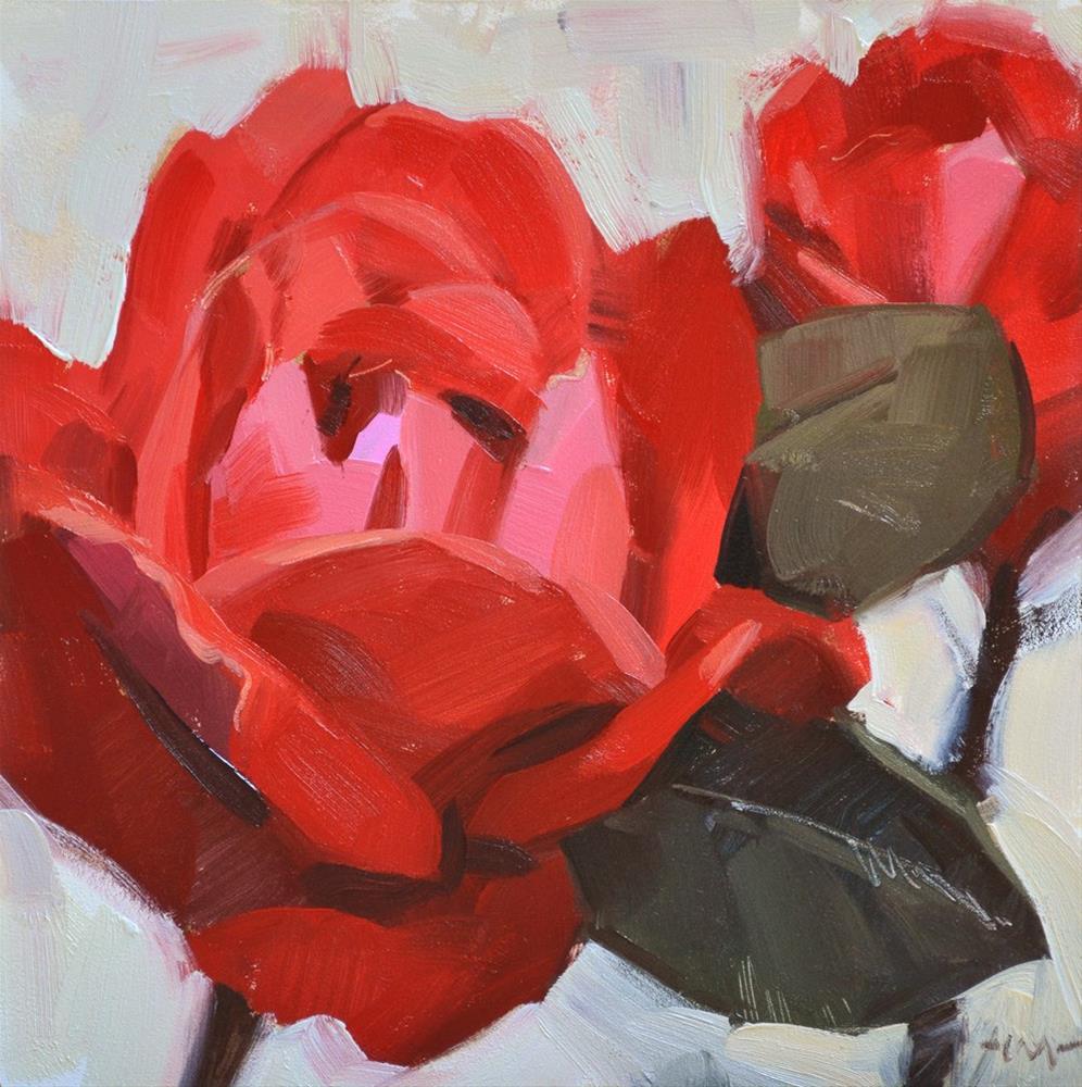 """The Rosiest"" original fine art by Carol Marine"
