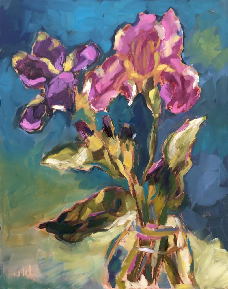 """Irresistible iris"" original fine art by Jean Delaney"