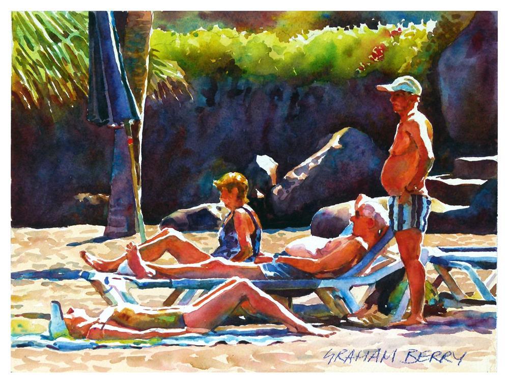 """Beach group."" original fine art by Graham Berry"
