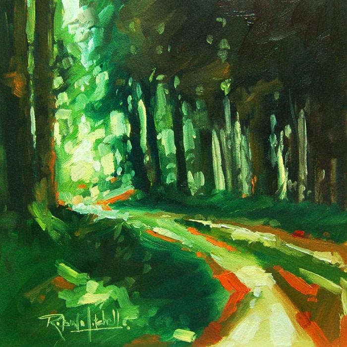 """No 564 Golden Path"" original fine art by Robin J Mitchell"