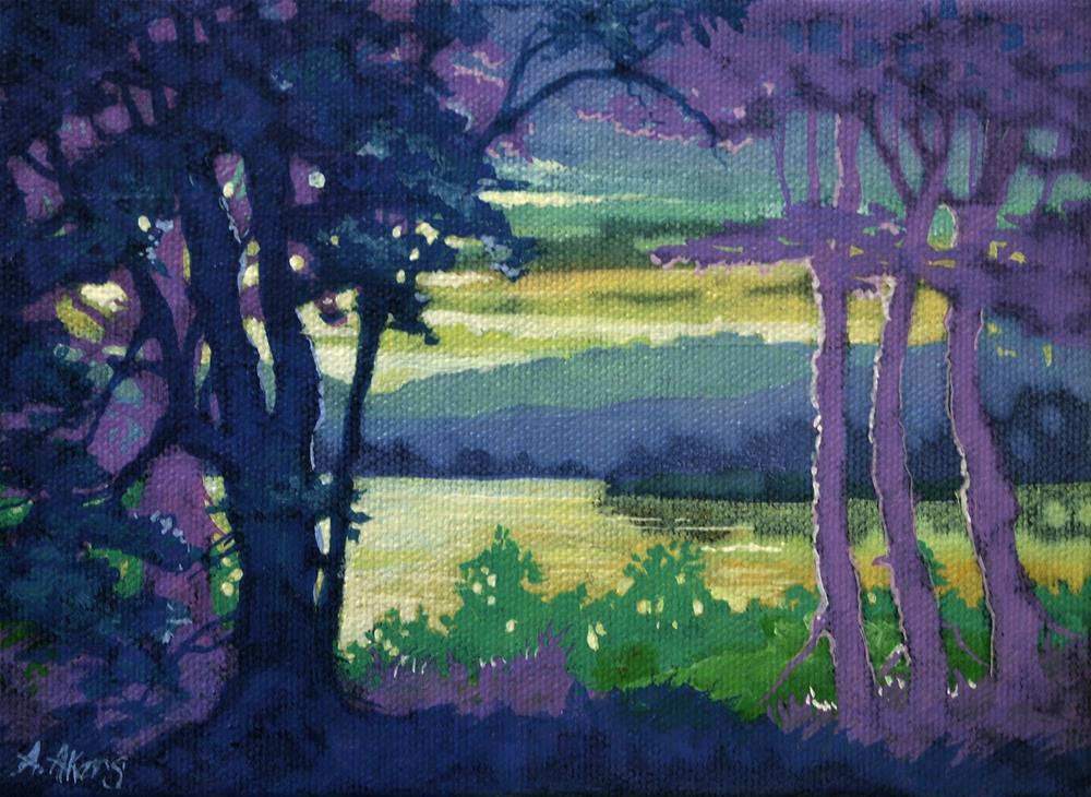 """The Last Lake Light Moorcroft Musings Series"" original fine art by Alida Akers"