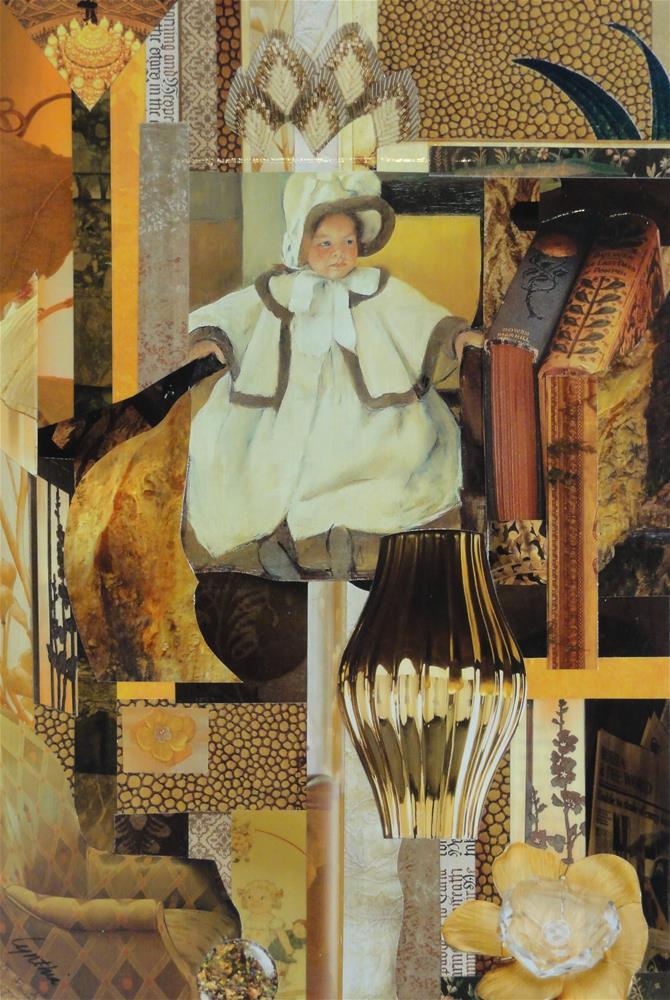 """""""Mary Cassatt's Ellen Mary in Ochre"""" original fine art by Cynthia Frigon"""