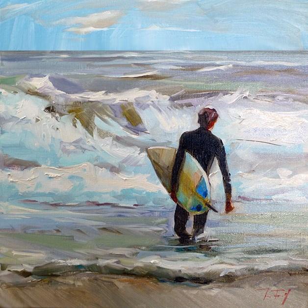 """""""Surfer"""" original fine art by Jurij Frey"""