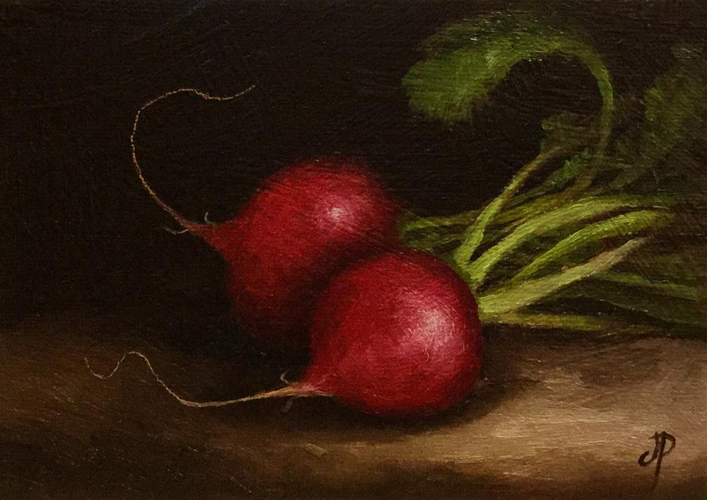 """Radish pair"" original fine art by Jane Palmer"