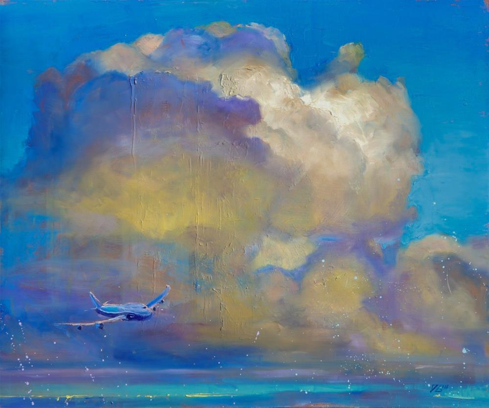 """747"" original fine art by Dimitriy Gritsenko"