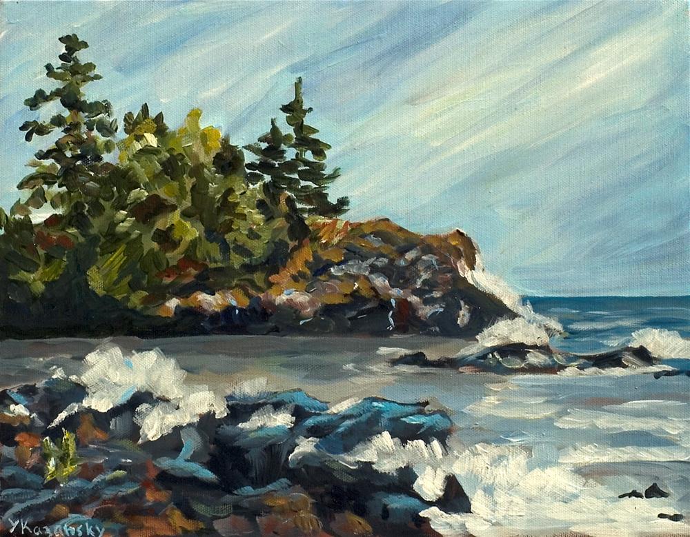 """Lake Superior"" original fine art by Yulia Kazansky"