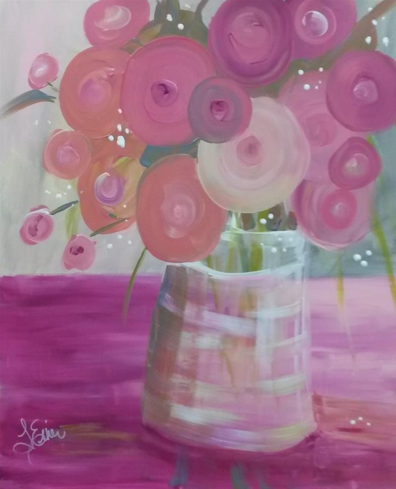 """""""Pretty in Pink"""" original fine art by Terri Einer"""