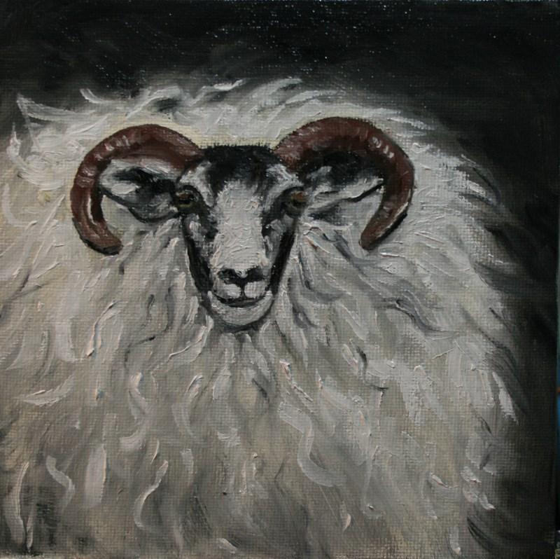 """""""Ram"""" original fine art by Jean Nelson"""