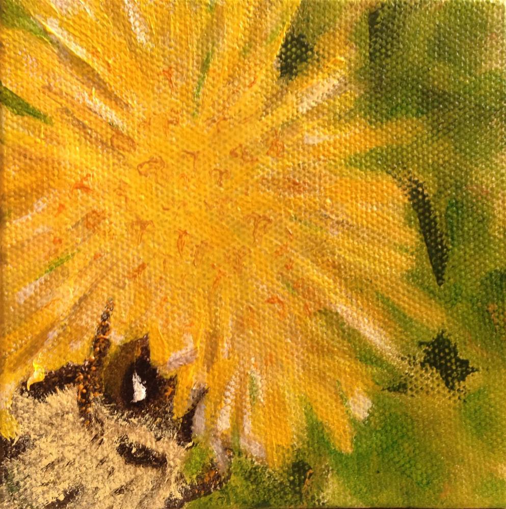 """Beezzz:  Getting to the Bottom"" original fine art by Joy McMicken"