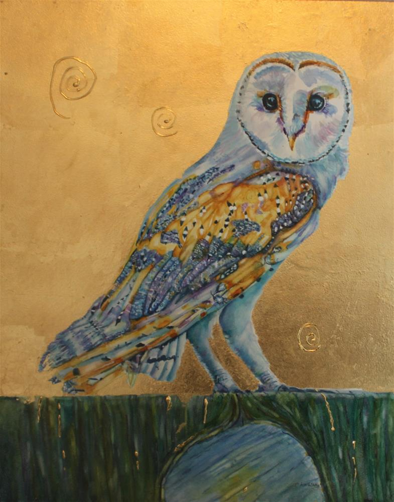 """Owen the Owl"" original fine art by Christiane Kingsley"