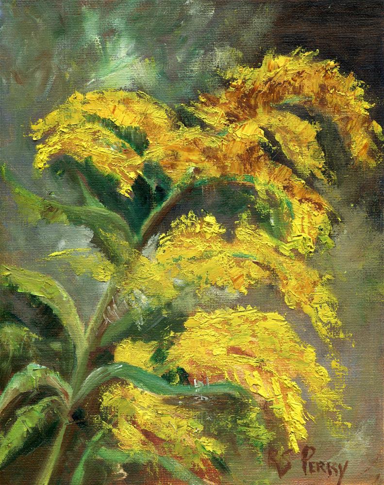 """Golden Rod "" original fine art by R. S. Perry"