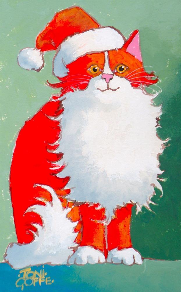 """Secret Santa"" original fine art by Toni Goffe"