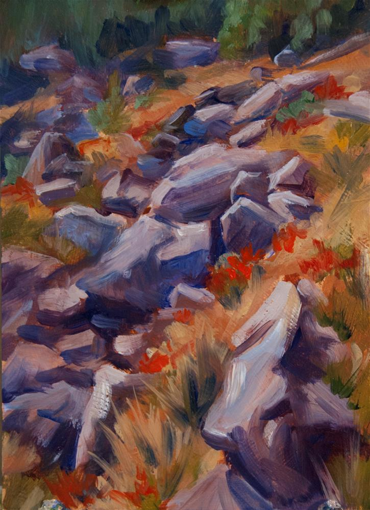 """East Slope, Flattop Mountain"" original fine art by Gary Alsum"
