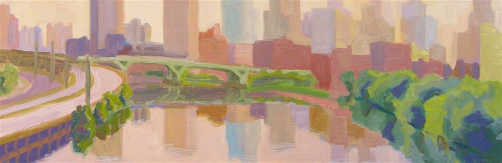 """South Street"" original fine art by Priscilla Bohlen"