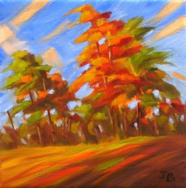 """Redhead October"" original fine art by Irina Beskina"