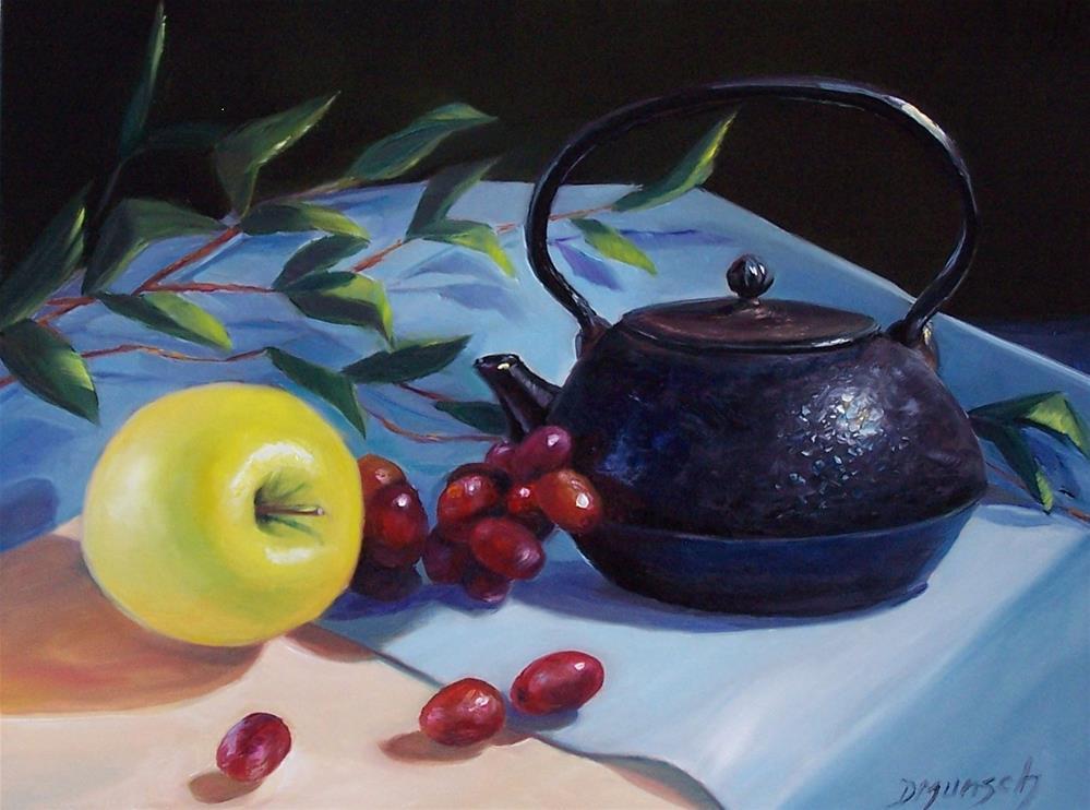 """""""Cast Iron Teapot"""" original fine art by Donna Munsch"""