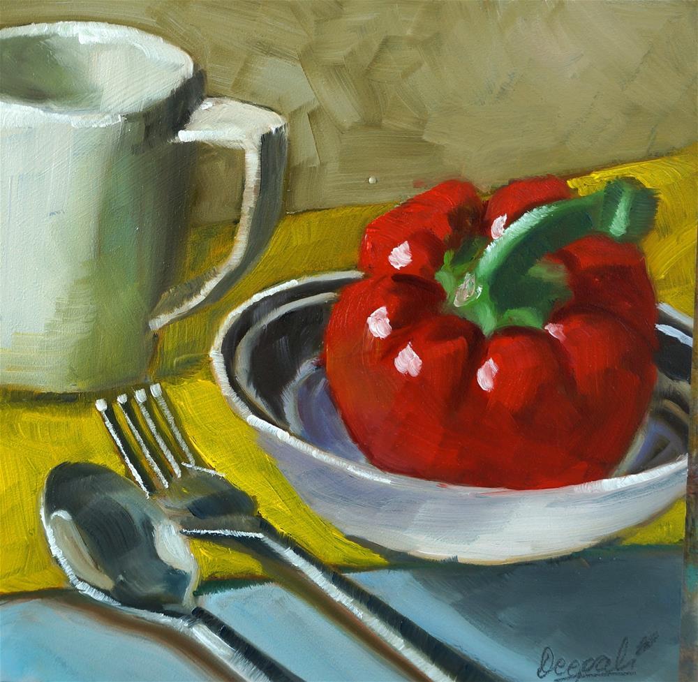 """Red pepper"" original fine art by Dipali Rabadiya"