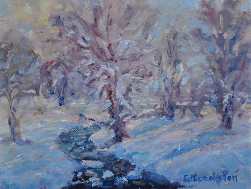 """Winter Adorns a New Dress"" original fine art by Catherine Crookston"